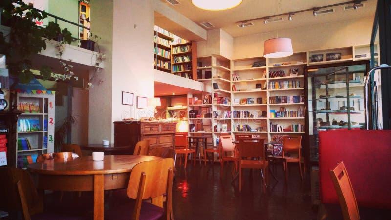 舒适café在第比利斯 免版税库存图片