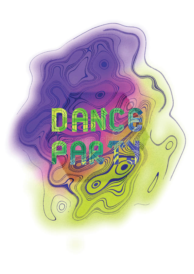 舞会音乐海报模板 抽象背景向量 库存例证