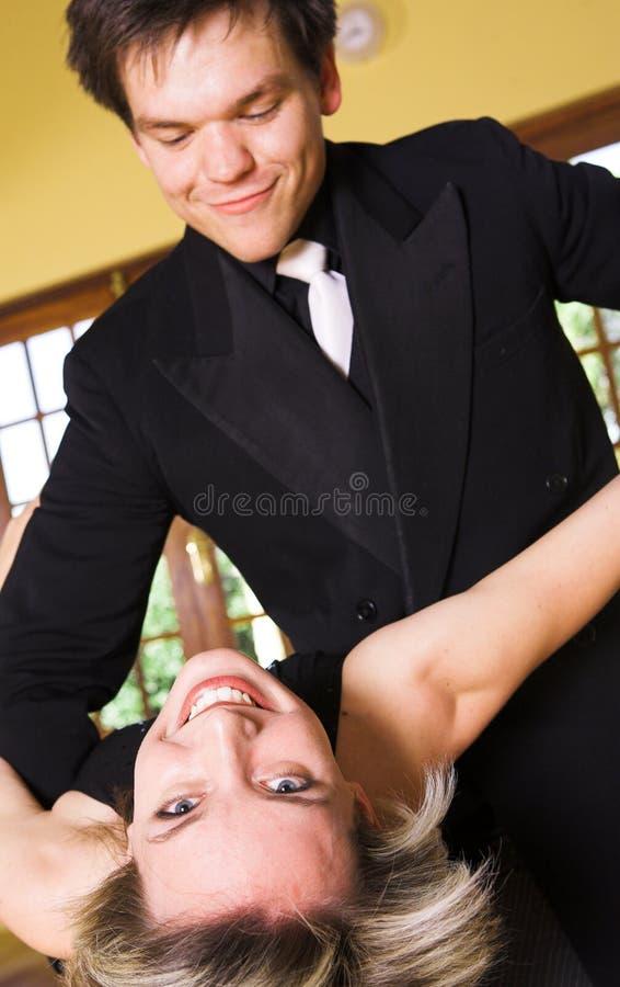 舞厅夫妇跳舞 免版税图库摄影