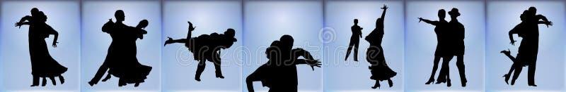 舞厅横幅舞蹈演员 库存例证