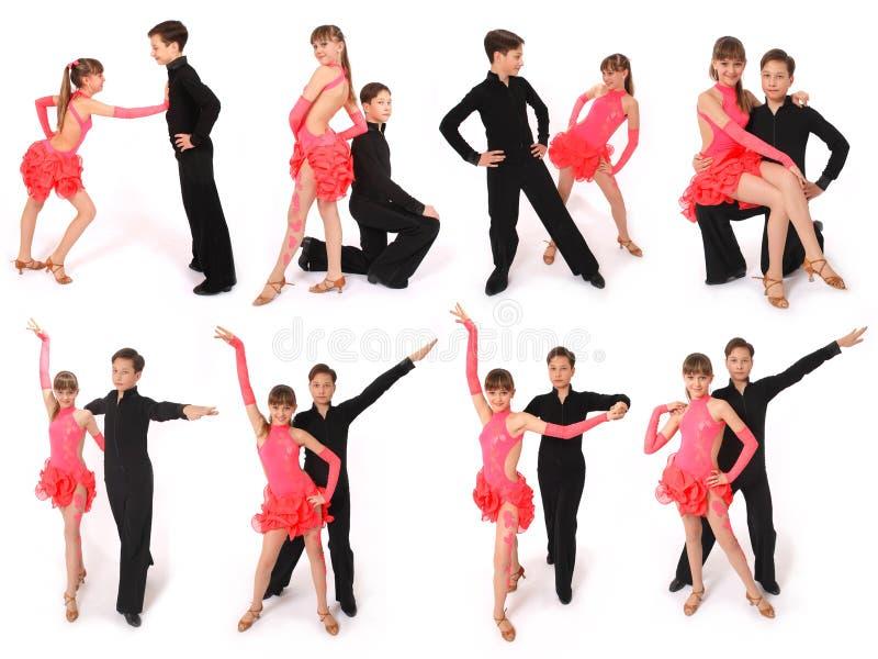 舞厅男孩舞蹈舞女 库存照片