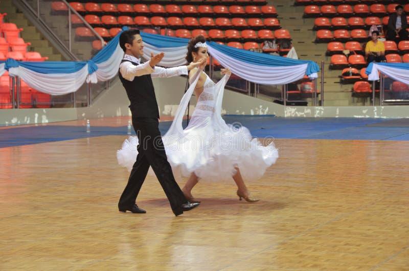 舞厅舞挑战在泰国2013年 库存照片