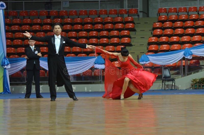 舞厅舞挑战在泰国2013年 免版税库存图片