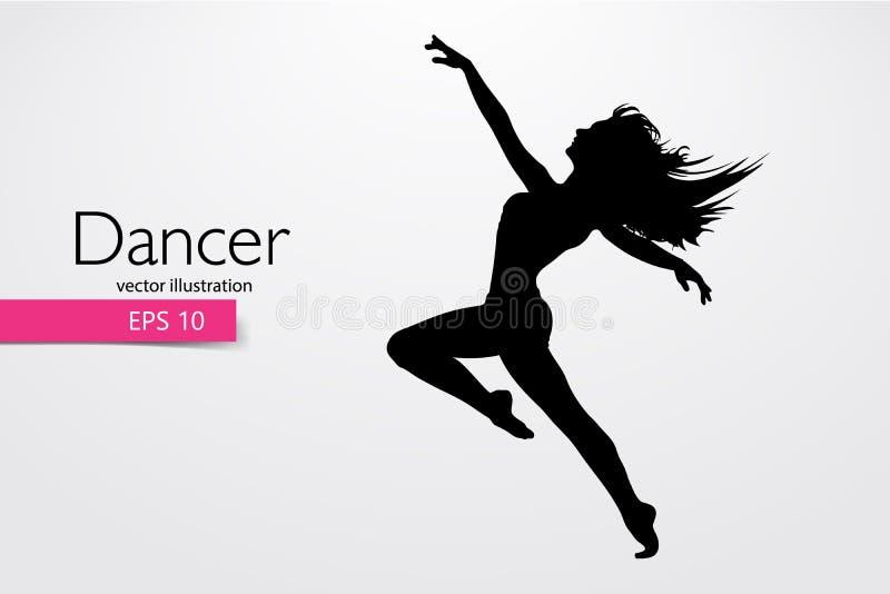 舞女的剪影 舞蹈家妇女 也corel凹道例证向量