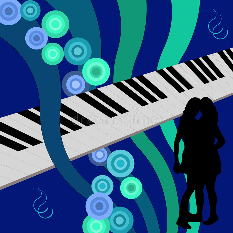 舞女钢琴 皇族释放例证