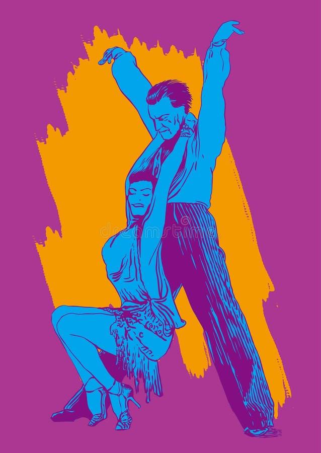 舞蹈人妇女 向量例证