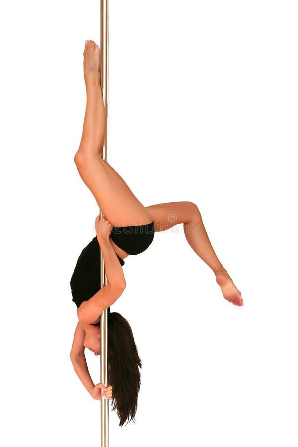 舞蹈健身杆 免版税库存图片