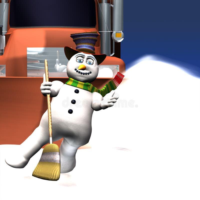 舞蹈前个雪人 向量例证