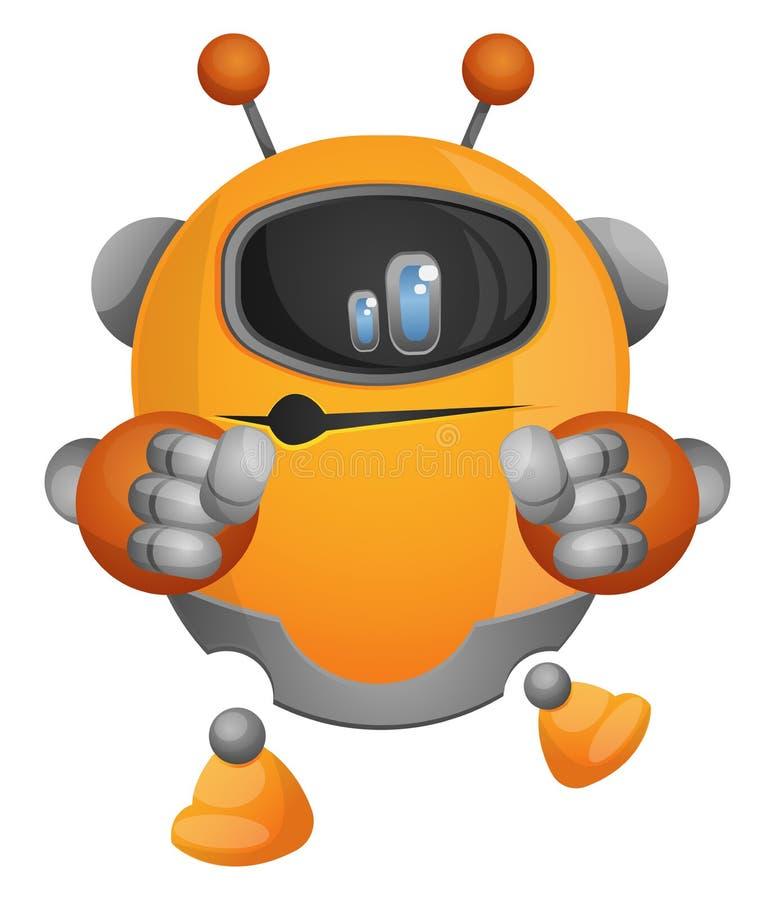 舞蹈动漫机器人插图矢量 皇族释放例证