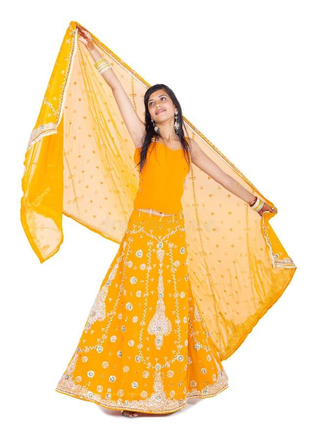 舞蹈印地安人妇女 免版税图库摄影