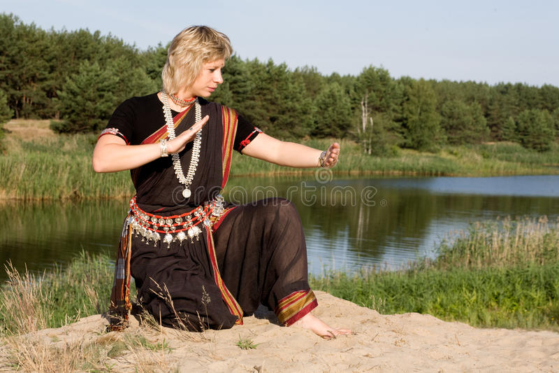 舞蹈印地安人 库存照片