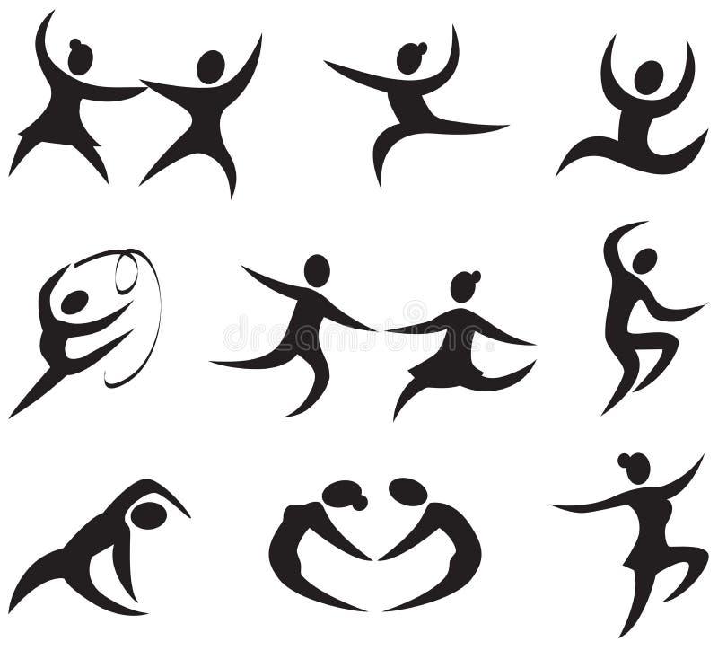 舞蹈图标 皇族释放例证