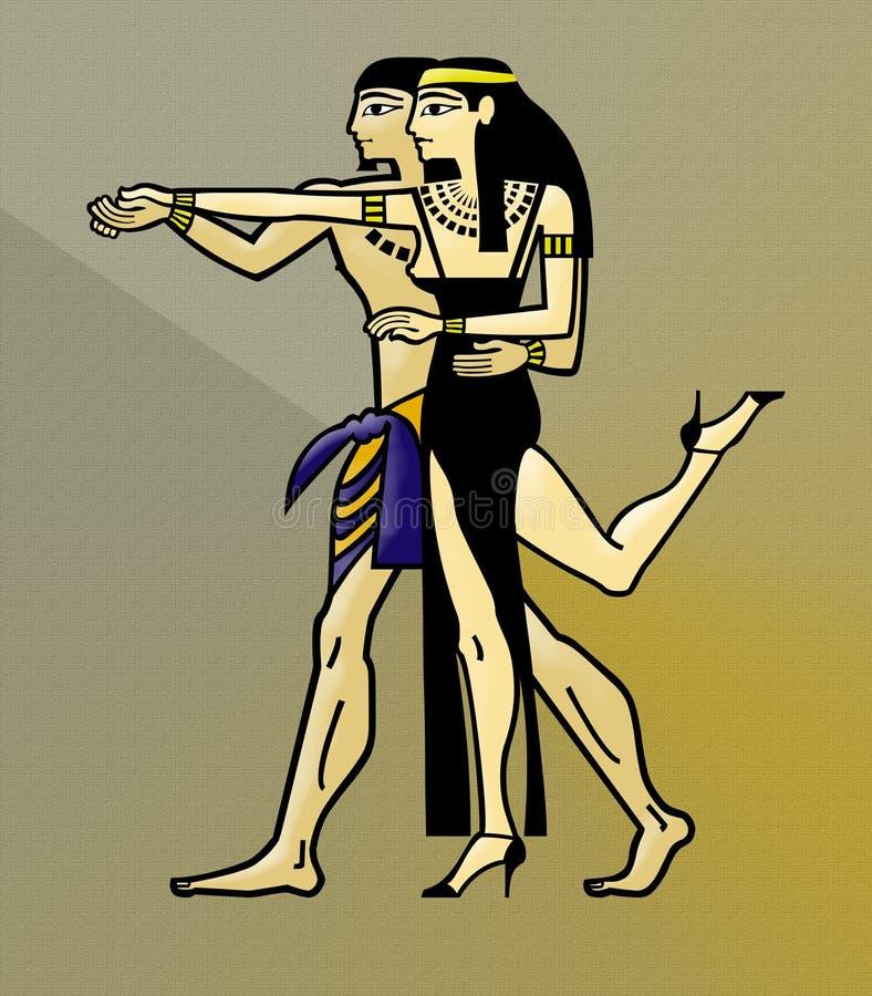 舞蹈埃及人探戈 皇族释放例证