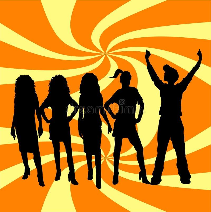 Download 舞蹈大家 向量例证. 插画 包括有 背包, 圈子, 重叠, 抽象, 迪斯科, 跳舞, 时髦, 人们, 向量, 女性 - 187378