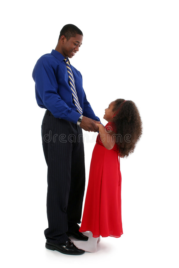 舞蹈女儿父亲 免版税图库摄影