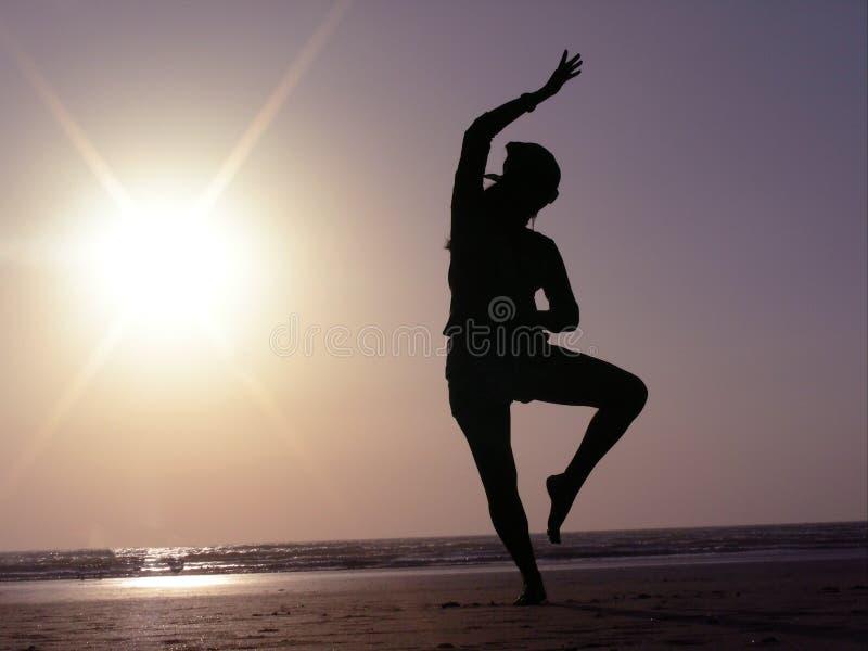 舞蹈姿势剪影 图库摄影
