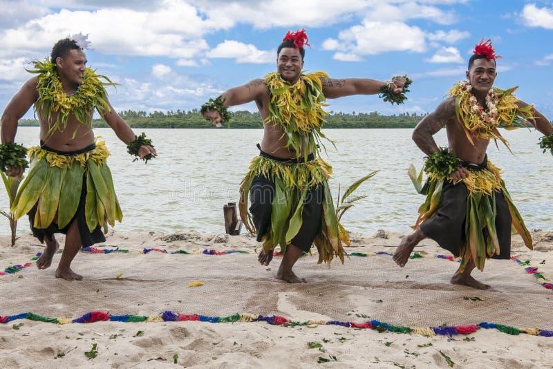 舞蹈家在南太平洋 库存照片