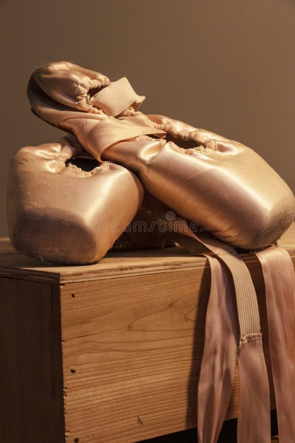 舞蹈家的鞋子 免版税库存照片