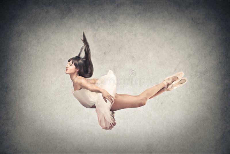 舞蹈家飞行 免版税库存照片