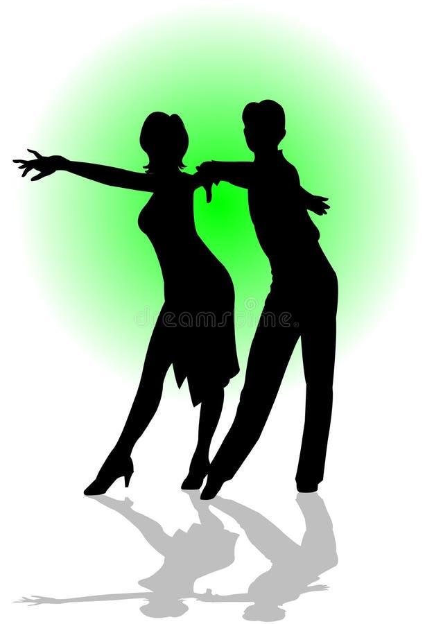 舞蹈拉丁 库存例证