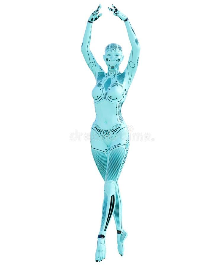 舞蹈机器人妇女 皇族释放例证