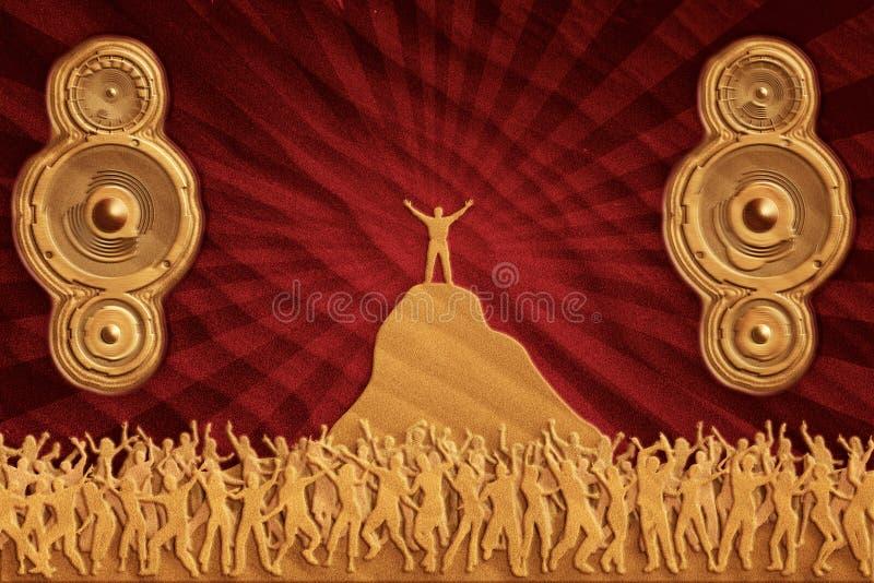 舞蹈沙子报告人 免版税库存图片