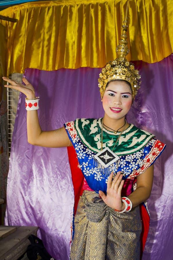 舞蹈泰国传统 免版税库存照片