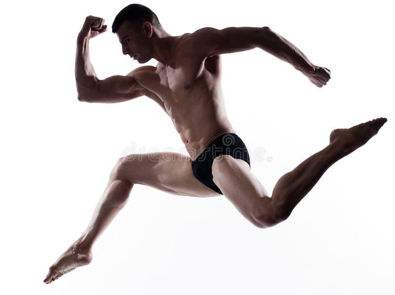 舞蹈演员体操上涨人 免版税库存照片