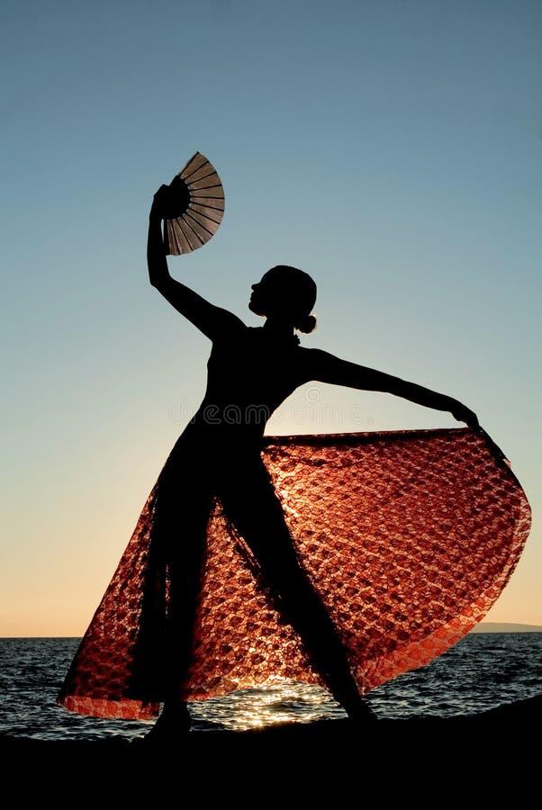 舞蹈演员佛拉明柯舞曲西班牙语 免版税库存图片