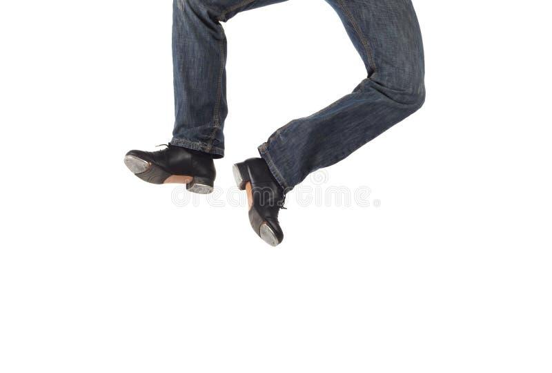 舞蹈演员唯一轻拍 免版税库存图片
