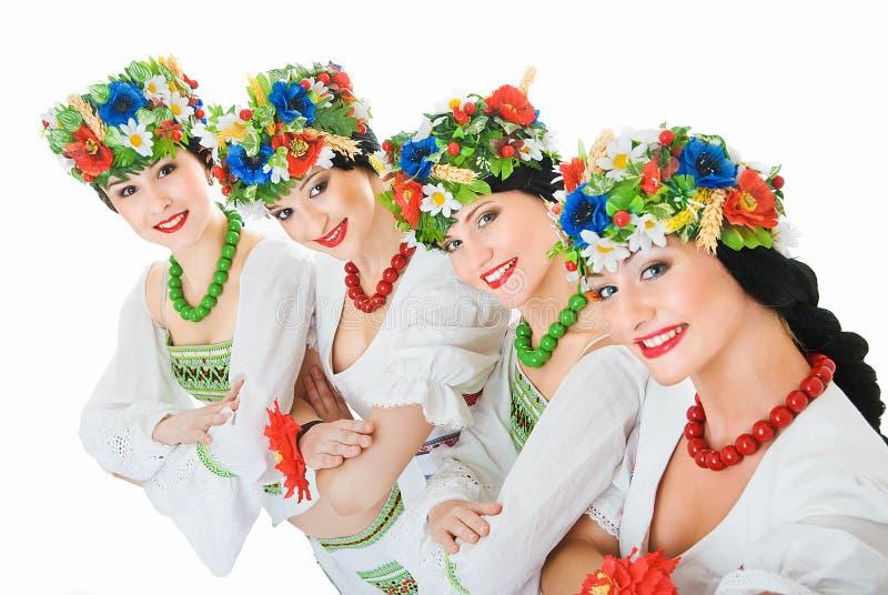 舞蹈演员四乌克兰语 免版税库存图片