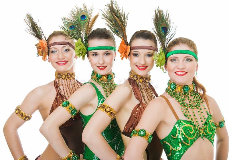 舞蹈演员四拉丁美洲人 库存图片
