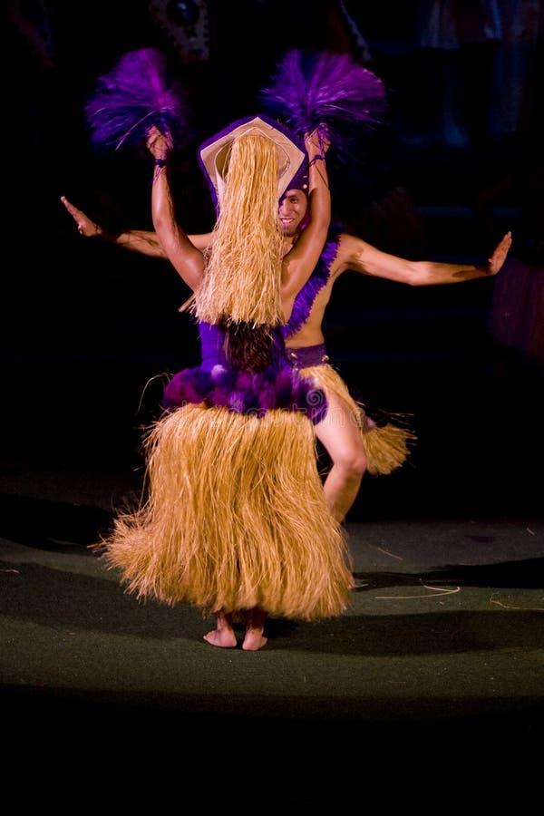 舞蹈演员塔希提岛 免版税库存照片