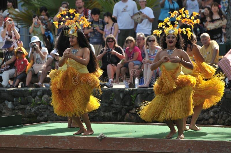 舞蹈演员夏威夷 免版税库存照片