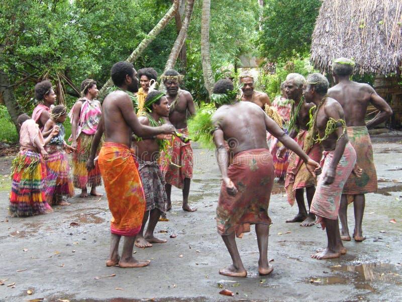 舞蹈演员当地人瓦努阿图 库存照片