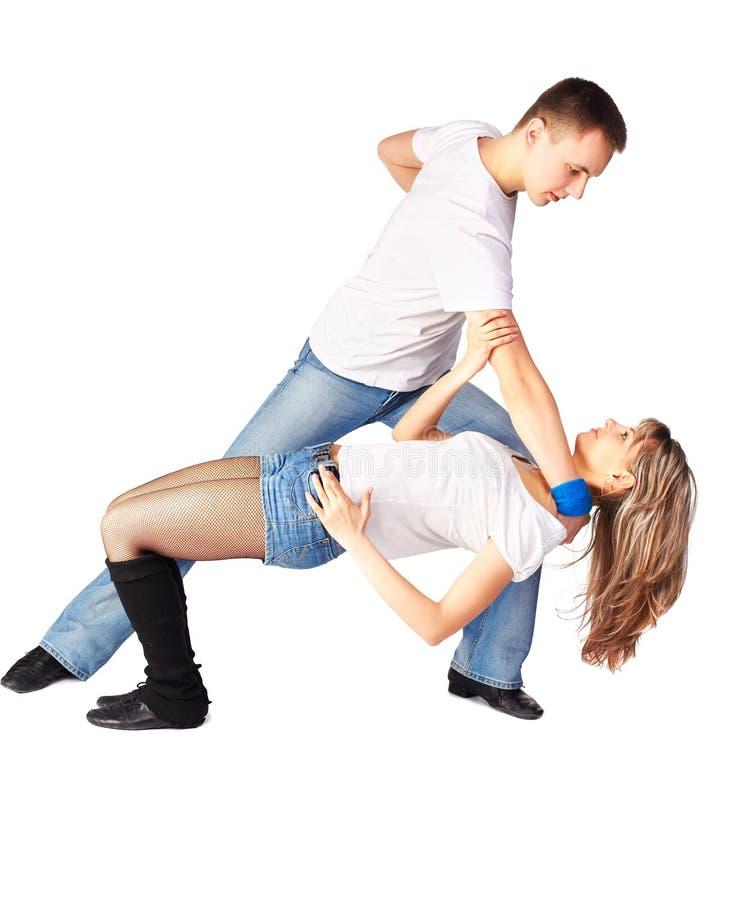 舞蹈演员忙碌 免版税库存图片