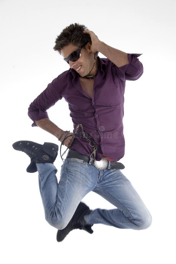 舞蹈演员愉快的跳的男 库存图片