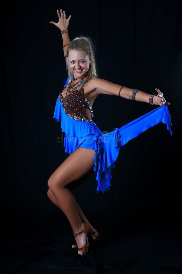 舞蹈演员拉丁 免版税库存图片