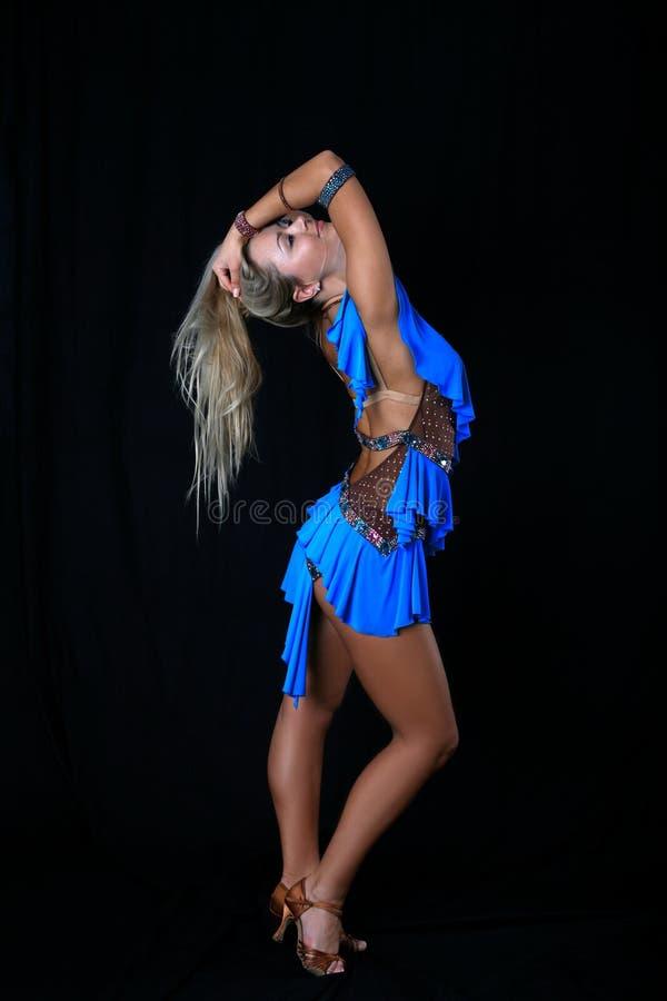 舞蹈演员拉丁 免版税库存照片