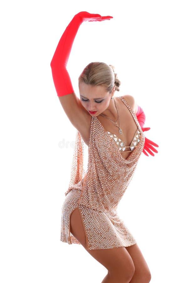 舞蹈演员拉丁 免版税图库摄影