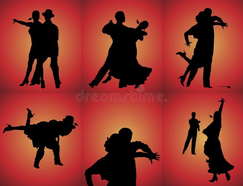 舞蹈演员探戈 库存例证