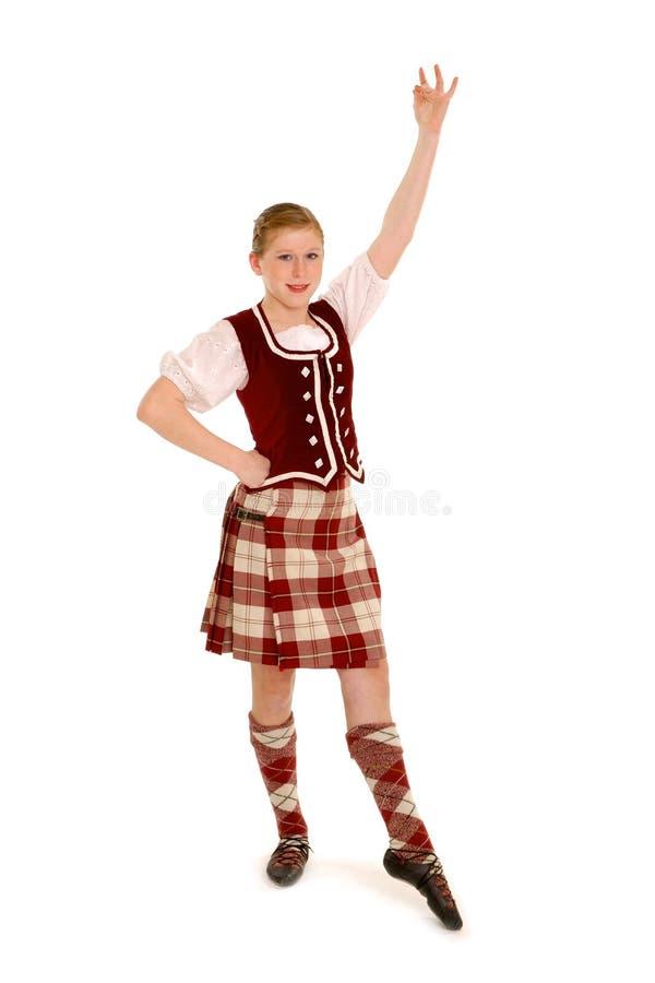 舞蹈演员爱尔兰语 免版税库存照片