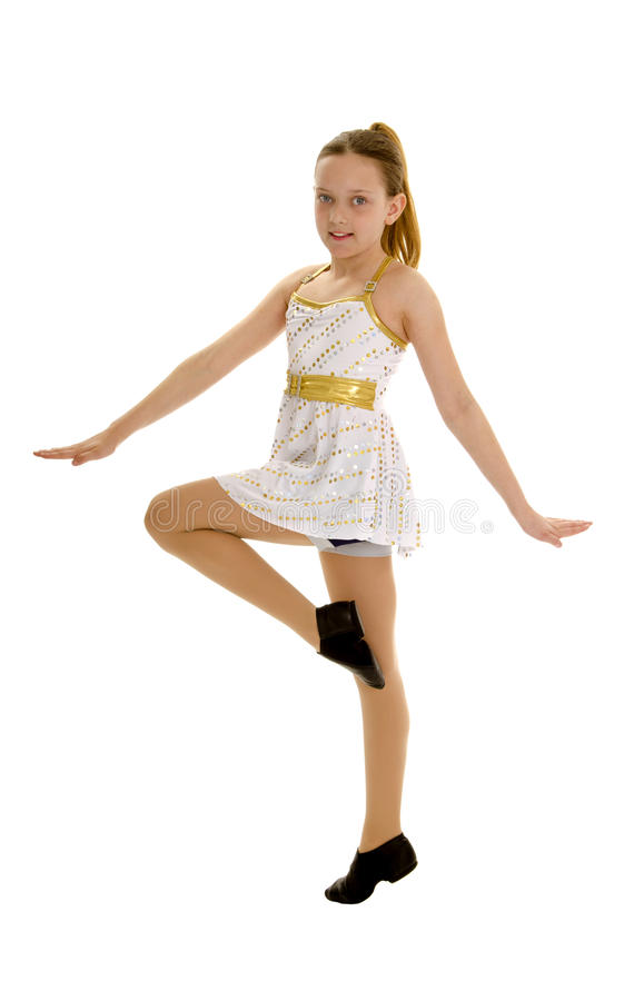 舞蹈演员爵士乐微笑的非离子活性剂 免版税库存照片