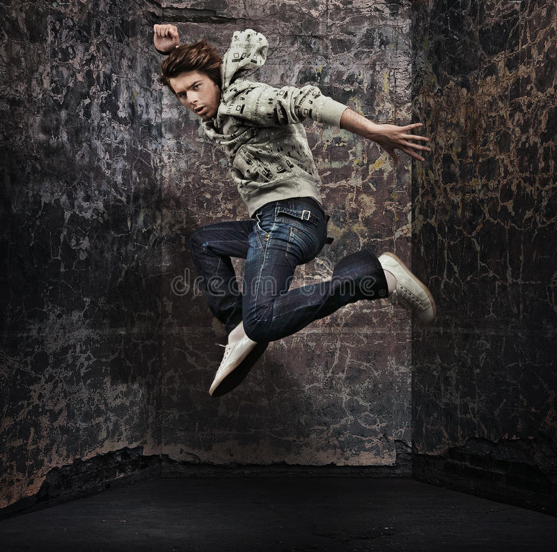 舞蹈演员男 免版税库存图片