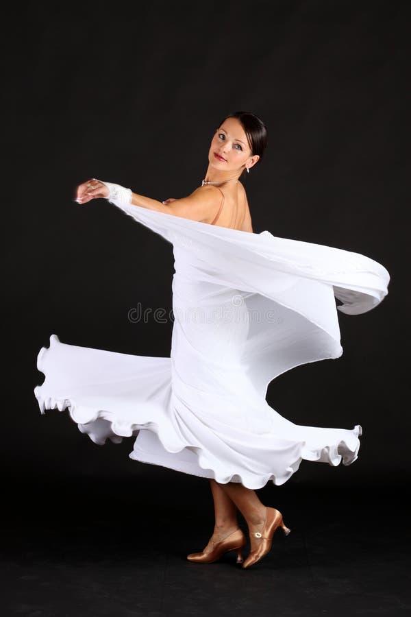 舞蹈演员白色 免版税库存图片