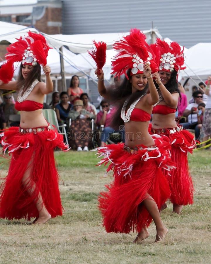 舞蹈演员节日夏威夷印第安当地人 库存图片
