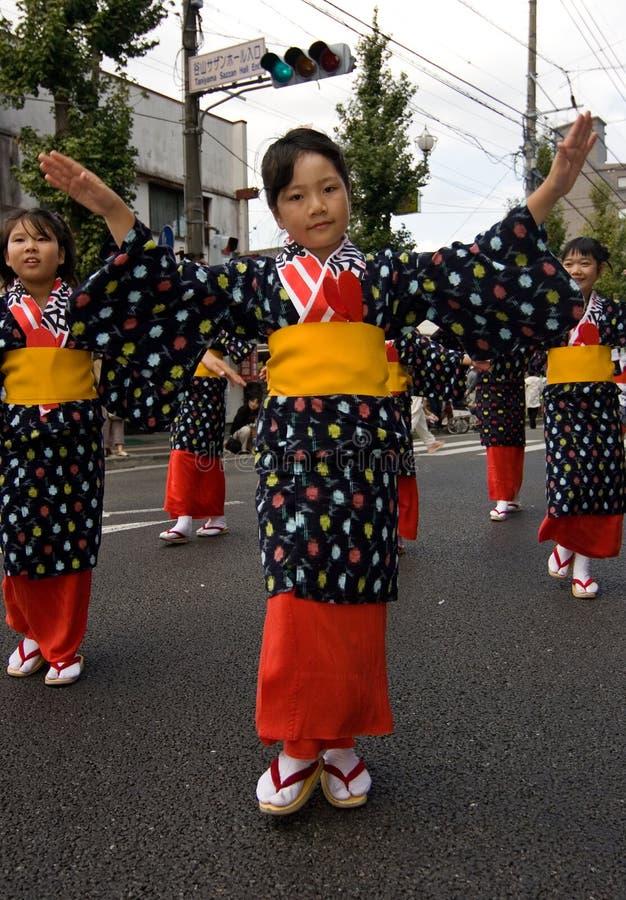 舞蹈演员节日日语 免版税库存照片