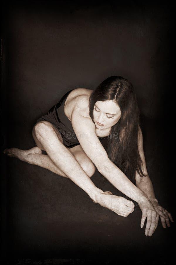 舞蹈演员被折叠 免版税库存图片