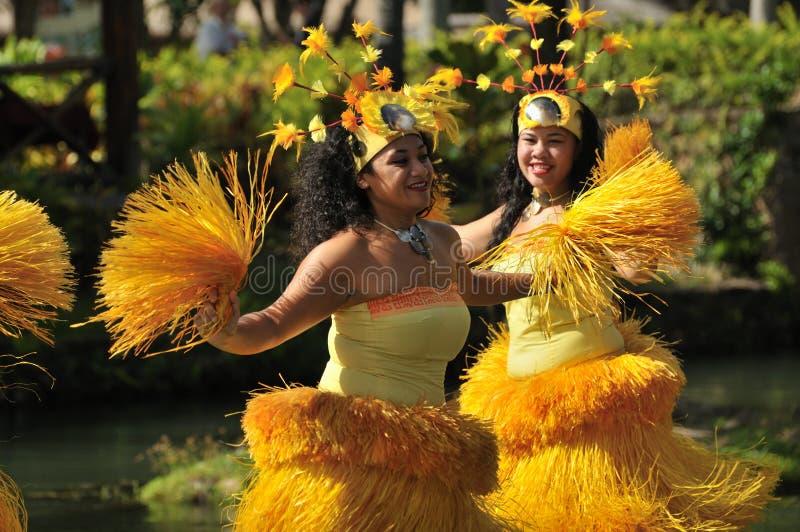 舞蹈演员裙子秸杆黄色 库存图片