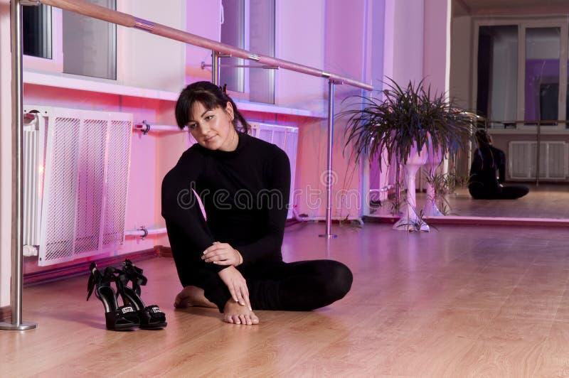 舞蹈演员认为 库存图片